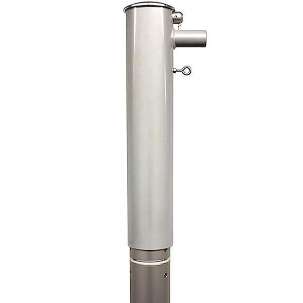 Fahnenmast 90mm Durchmesser mit hissbarem Drehkopfausleger